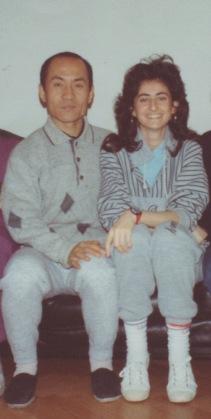 Con il M° Wang Ting Jun nel 1991