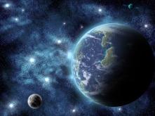 Terra-e-Luna-in-cielo-stellato